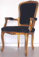 Louis High Back Carver Chair